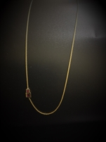 Chain 18k y. gold & rubies